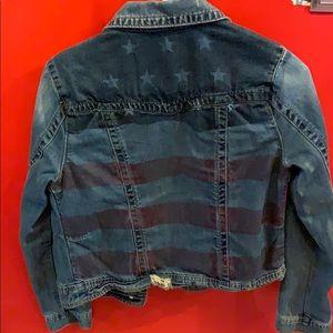 Jackets & Blazers - American flag denim jacket